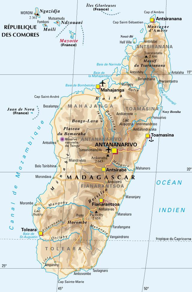 Carte Madagascar Et Ses Iles.L Ile De Madagascar Et Le Voyage Autrement Voyager